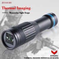 S1 Tiny Thermal Imaging Monocular Crosshair Hotspot Trail óptico caza alcance infrarrojo visión nocturna telescopio de cámara térmica