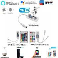 Magia casa Bluetooth Wifi RGB RGBW LED tira controlador teléfono inteligente aplicación de Control de RF/Control Remoto IR Alexa Control por voz de Google DC12V