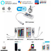 Magie Hause Bluetooth Wifi RGB RGBW LED Streifen Controller Smartphone APP Control RF/IR Remote Alexa Google Voice Control DC12V