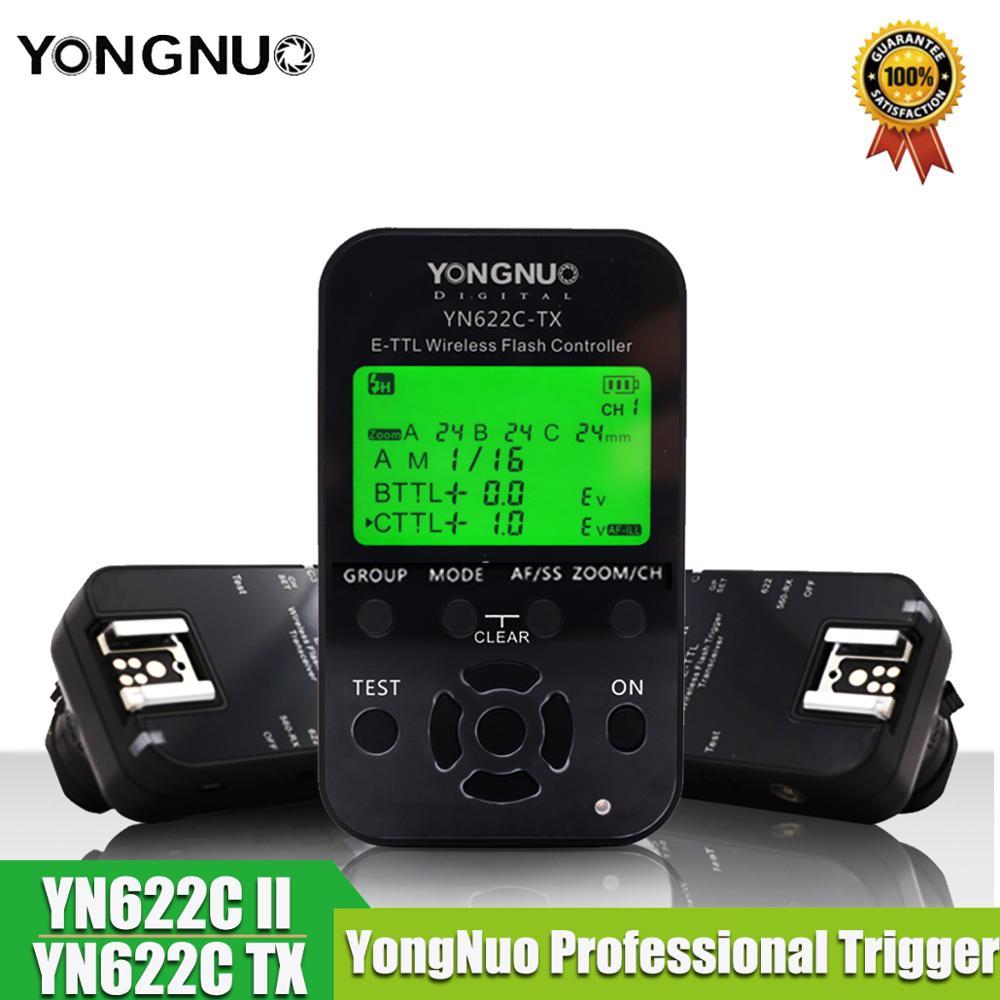Yongnuo YN 622C II Trigger YN622C TX LCD Controller ETTL Wireless Flash Trigger Transceivers voor Canon Yongnuo Flash-in Flitsen van Consumentenelektronica op  Groep 1