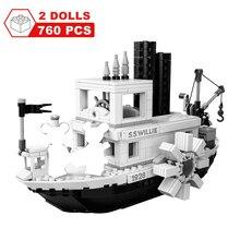 760 sztuk Steamboat Willie Movie Friends klocki klocki zabawki dla dzieci prezenty Model dzieci