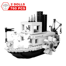 760PCS Steamboat Willie Movie Friends Building Blocks Bricks Toys for Children Gifts Model Kids