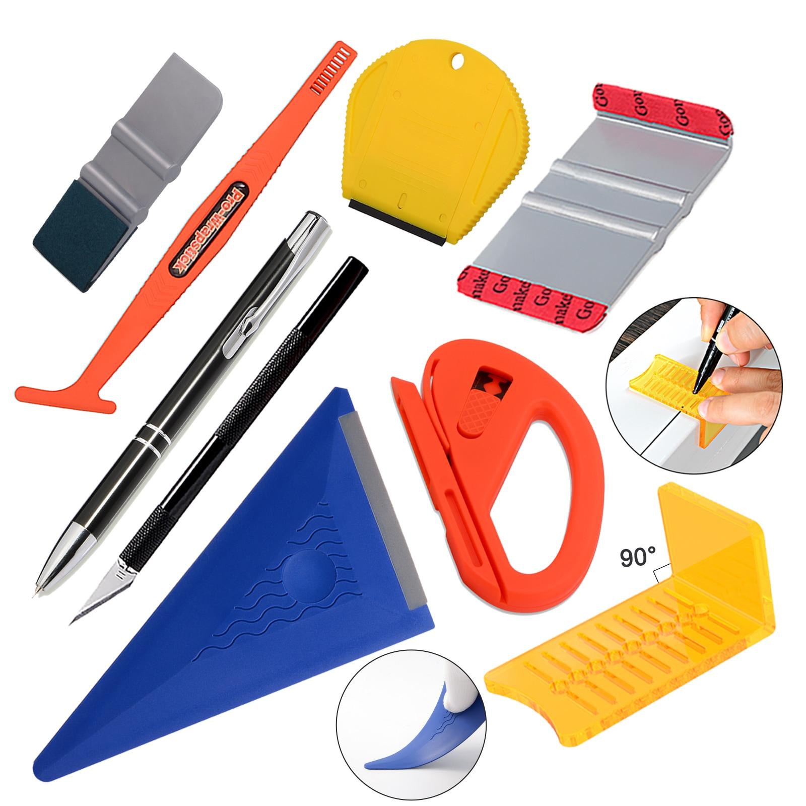 EHDIS Carbon Film Vinyl Wrap Cut Tool Window Tinting Car Decal Paint Razor Scraper Glass Sticker Squeegee Motorcycle Accessories