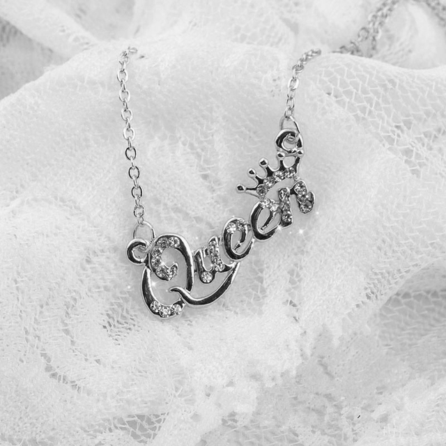 New Fashion Luxury Gold-Color Queen Crown Chain Necklace Zircon Crystal Necklace Women Fashion Jewelry Birthday Present Gifts Accessories Jewellery & Watches Women's Fashion