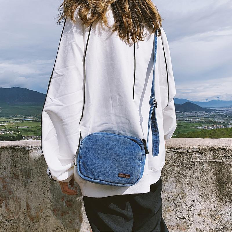Denim Shoulder Bags Women Handbags Mini Purse Jeans Cotton Flap Cluth Bag Small Crossbody Bags For Girls Casual Tote Sac A Main