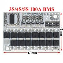 BMS 100a 5s 4s 3S LMO/LiFePO4 LiFe Protection de la batterie Circuit imprimé Balance Circuits intégrés 100a 21V/18V