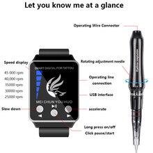 Профессиональный постоянный макияж бровей татуировки машина с цифровая панель управления устройство микропигментирования глаз бровей губ татуировки пистолет
