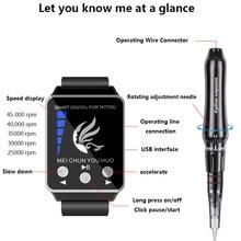 Professional Permanent Makeup Eyebrow Tattoo machine With Digital Control Panel Micropigmentation Device Eye Brow Lip Tattoo Gun