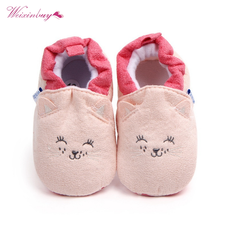 Fashion Newborn Baby Girl Crib Shoes Baby Shoes Girls Boy First Walkers Slippers Footwear Booties New Spring Autumn Winter 0-18M