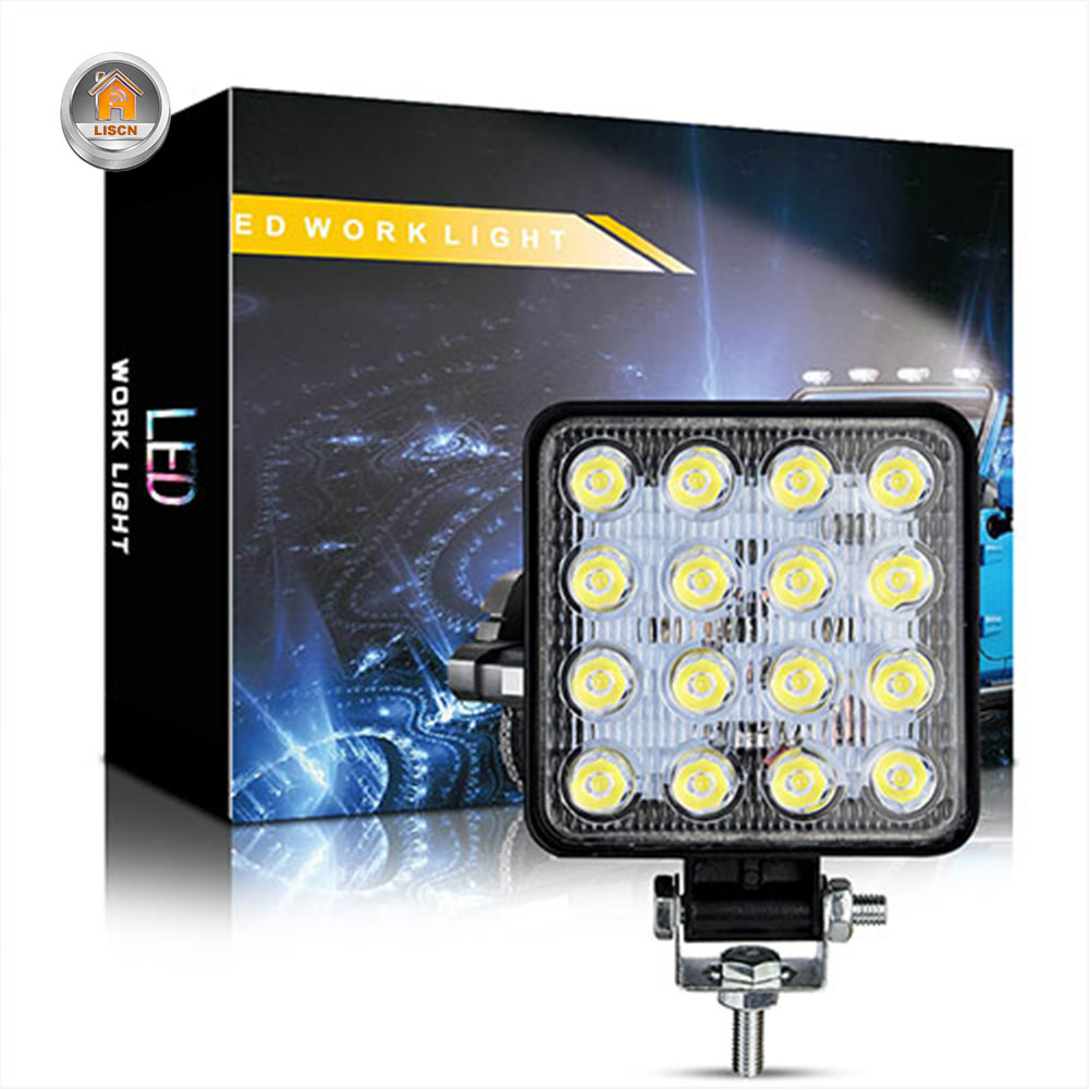 48W Car LED Work Light Mini High Quality Led Lamp Beads Running Lights Fog Lights Waterproof Car SUV LED Headlights Floodlights