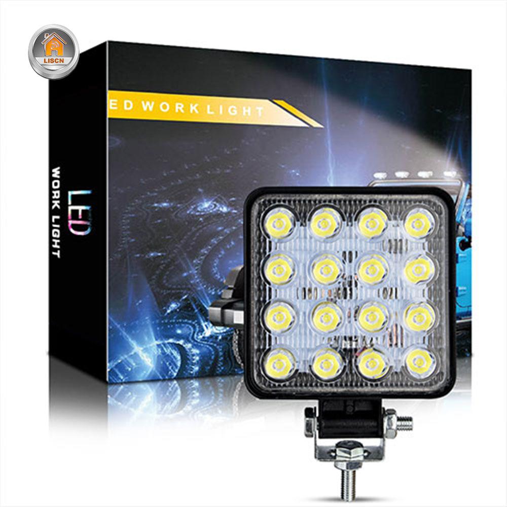48W Car LED Work Light Mini High Quality Led Lamp Beads Running Lights Fog Lights Waterproof Car SUV LED Headlights Floodlights