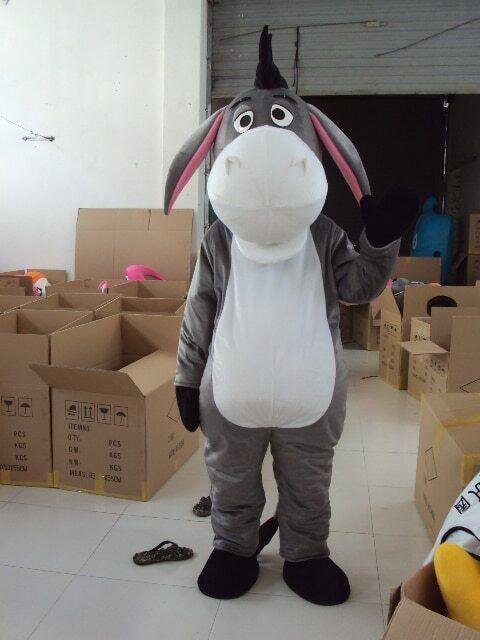 L'âne Mascotte Costume Animaux Cosplay De Fête De Bande Dessinée Jeu Fantaisie Robe Tenue Halloween Adulte Publicité Parade Personnage Nouveau