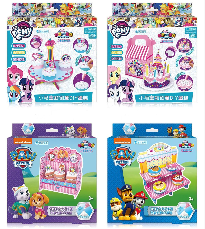 EAKI Children DIY Toys Sweet Cream Cake Kids Handmake Simulation Birthday Cake Set  Kitchen Pretend Toys Girl Christams Gifts