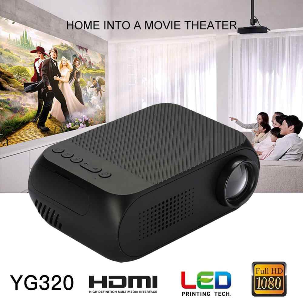 YG320 Mini Proiettore Aggiornamento Portatil Led Proyector Audio HDMI USB Mini Projetor Home Theater Lettore Multimediale Beamer 7000 lumen