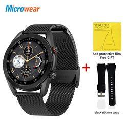 Новинка 2021, Смарт-часы Microwear L19, Bluetooth, звонки, водонепроницаемость, ЭКГ, артериальное давление, фитнес-трекер для измерения сердечного ритма ...