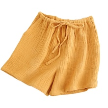Pajamas Pants Sleepwear Shorts Cotton Summer Casual Home for Ladies Loose Multi-Colors