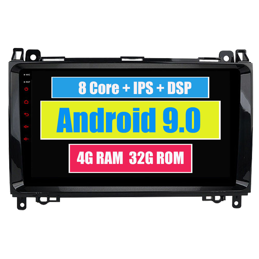 For <font><b>Mercedes</b></font> B170 <font><b>B180</b></font> B200 Viano Vito Car Multimedia Player Android 9.0 Stereo Radio <font><b>GPS</b></font> Navigation MirrorLink Headunit image