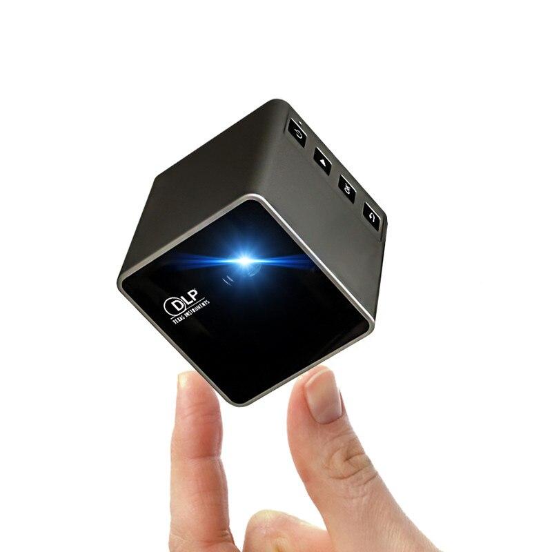 UNIC P1S poche sans fil Mini projecteur DLP 40 Lumens 640*360dpi connexion pour IOS/Android Portable WiFi maison Micro projecteur