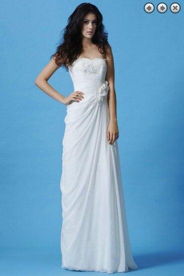 Free Shipping New Fashion 2020 Maxi Lace Sexy Princess Bridal Gown Vestidos Formales White Long Dress Chiffon Bridesmaid Dresses