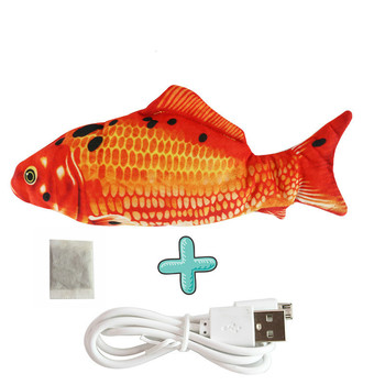 Moving Fish Cat Toy Electronic Flopping Cat Kicker Fish Toy Catnip Fish Toys for Cats Pet Supplies Funny Chew Toy for Indoor Cat 19