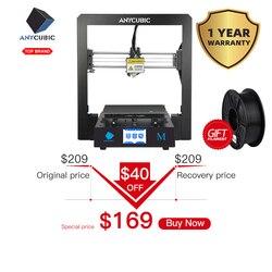 ANYCUBIC 3d принтер I3 Мега размера плюс полный металлический каркас платформы рабочего стола промышленного класса высокой точности 3d Drucker набор...