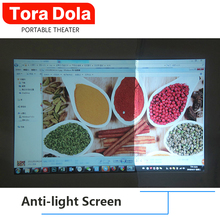 цена на TORA DOLA Anti-light Screen 16:9 Reflective Fabric 60/100/120 Inch for LED , Scattered Projector Screen For Full HD projector