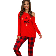 Women Christmas Pajamas Set Fashion Printed Long Sleeve Tops Plaid Pant Women Pajamas 2PCs Set Sleepwear NEW new
