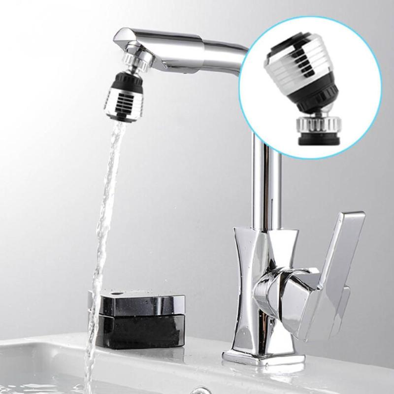Kitchen Stainless Steel Bubbler 360°Rotary Faucet Bubbler Water Nozzle Splash Proof Aerobic Shower Water-saving Tap
