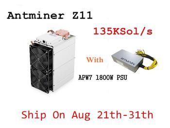 W magazynie ZEC górnik Antminer Z11 135k Sol s 1418W z BITMAIN 1800W PSU lepiej niż Innosilicon A9 Antminer S9 S11 S15 T15 Z9 tanie i dobre opinie YUNHUI 10 100 1000 mbps