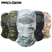 Camouflage Tactical Outdoor Balaclava Full Face Paintball Biker Hunting Hiking Cycling Army Sport Mask Military Liner Scarf Cap