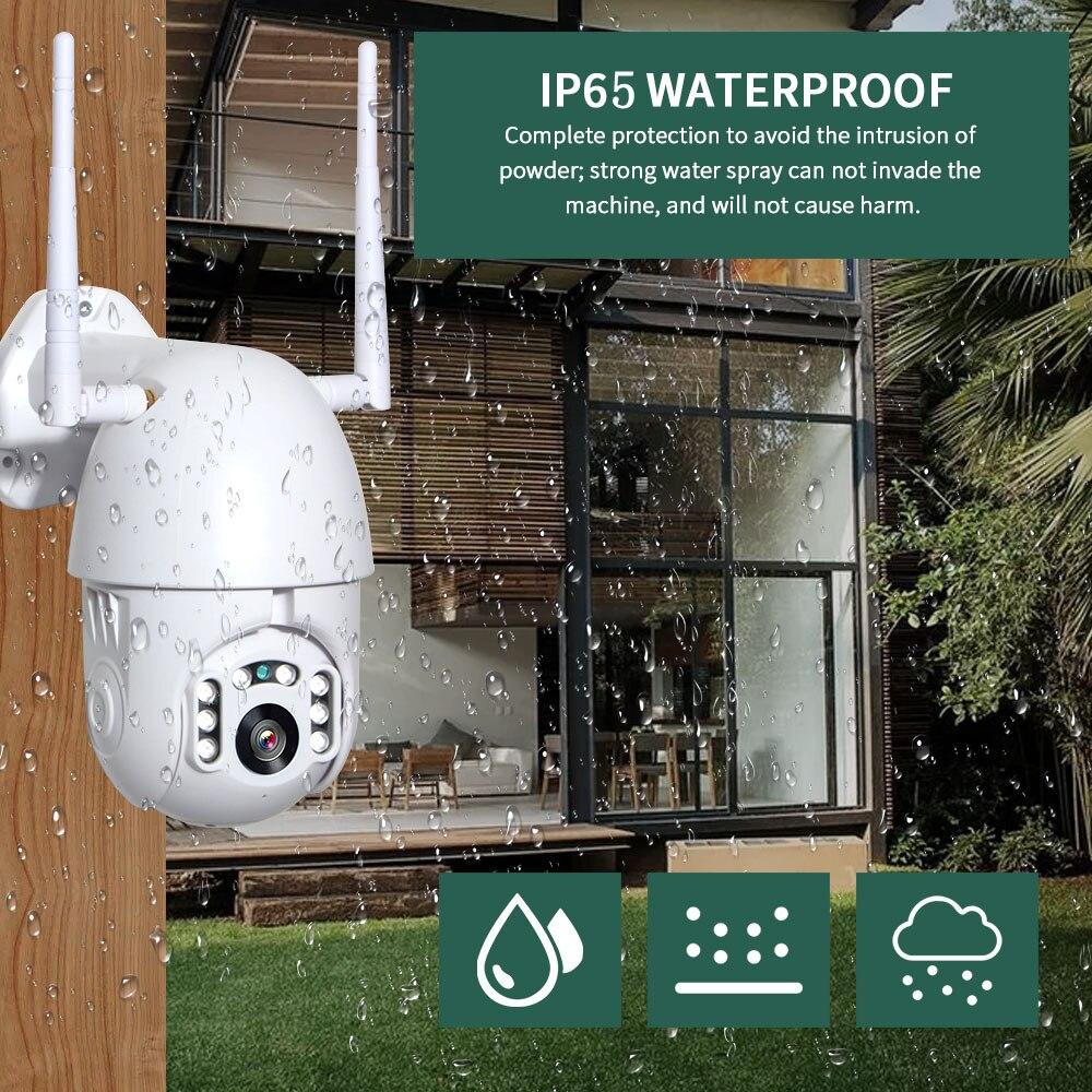INQMEGA 4X Zoom numérique H.265 1080p PTZ caméra IP dôme de vitesse extérieur CCTV WIFI caméra extérieure IR maison surveillance caméra de sécurité