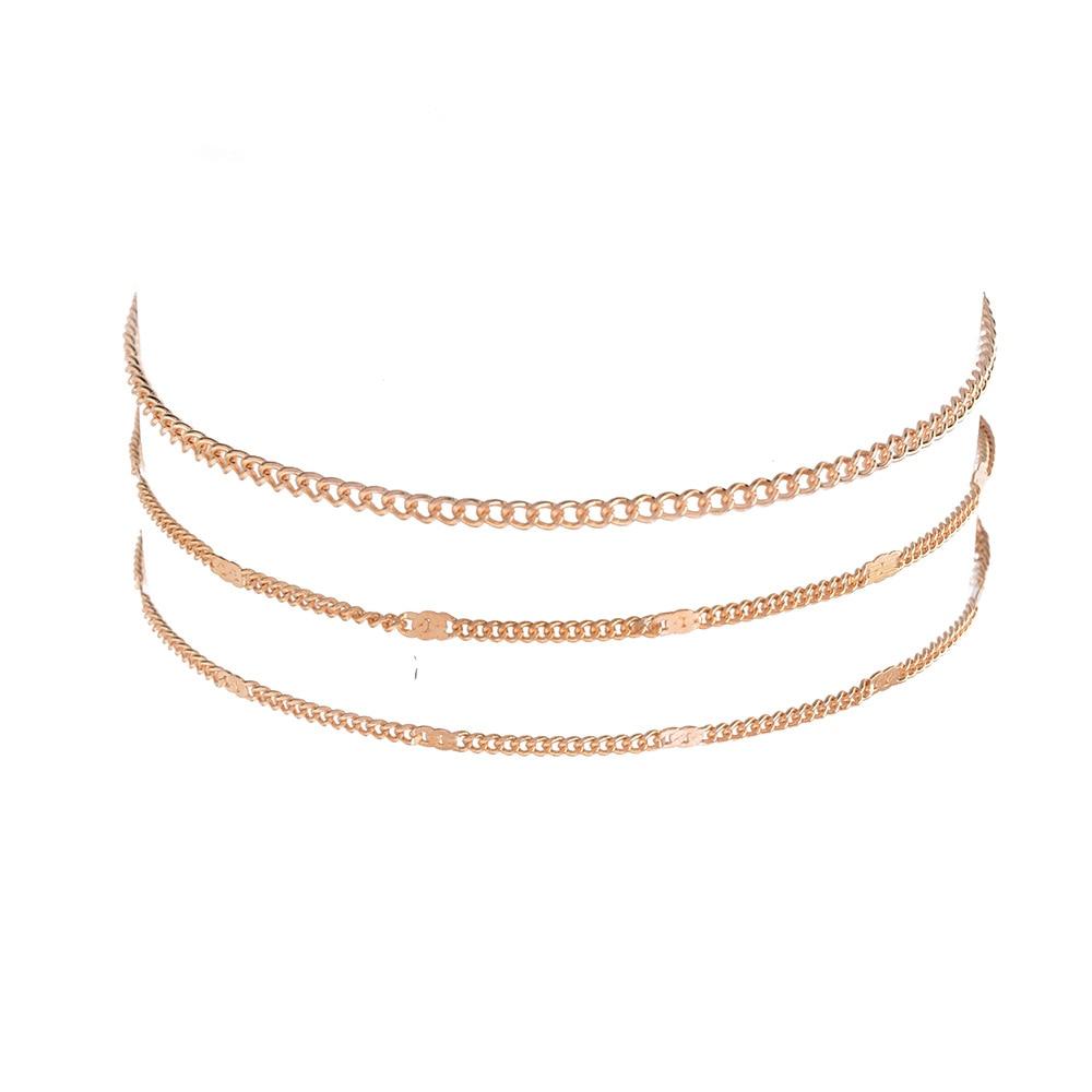 2pcs Simple Double Chain Heart Charm Anklet Ankle Bracelet Accessory Summer