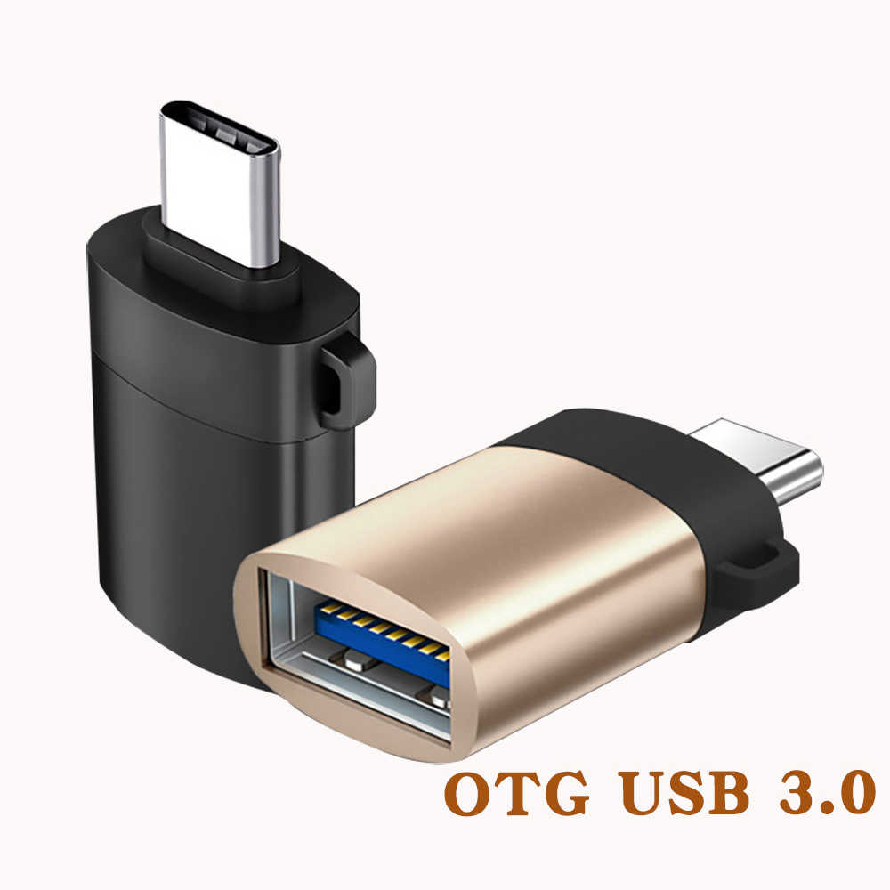 OTG Type C Usbc Adapter Micro USB Android 3.0 Charge Data Converter untuk Samsung Galaxy S8 S9 Xiaomi Note2