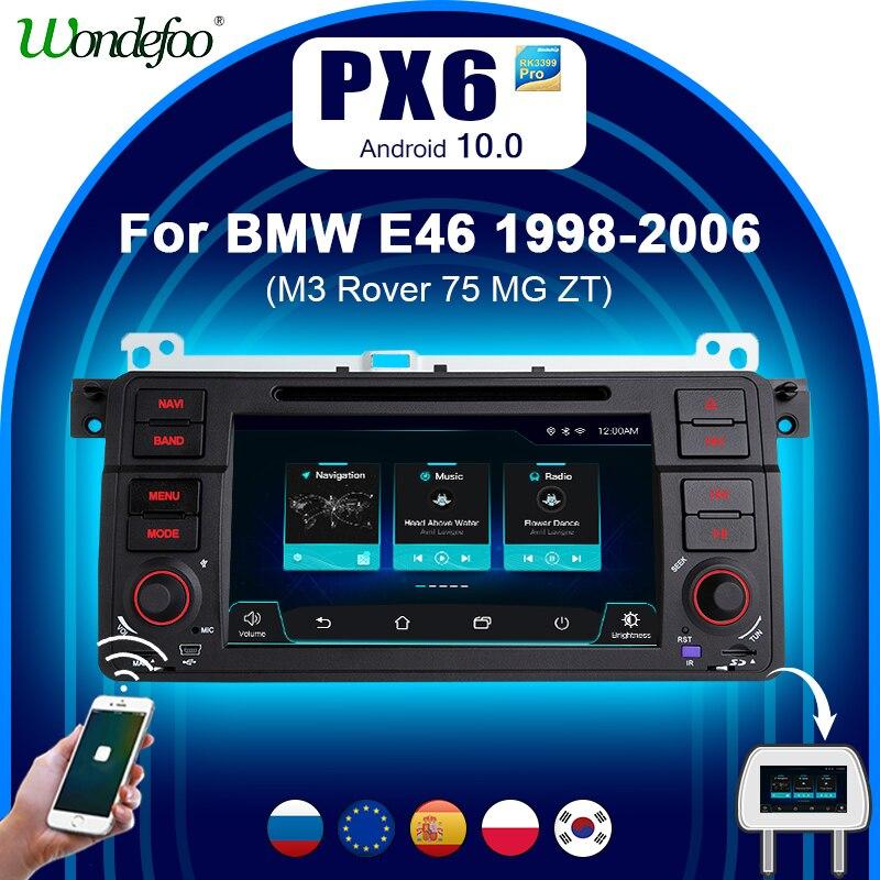 Автомагнитола 1 din андроид Магнитола Android 10 PX6 для BMW E46 M3 318/320/325/330/335 Land Rover 75 Автомагнитола Навигация стерео Мультимедиа gps