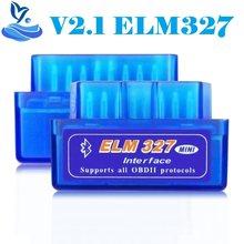 V2.1 elm 327 bluetooth obd2 interface de diagnóstico elm327 obd2 elm 327 scanner código 4 pces/7 pces carro ferramenta desmontagem painel porta clipe