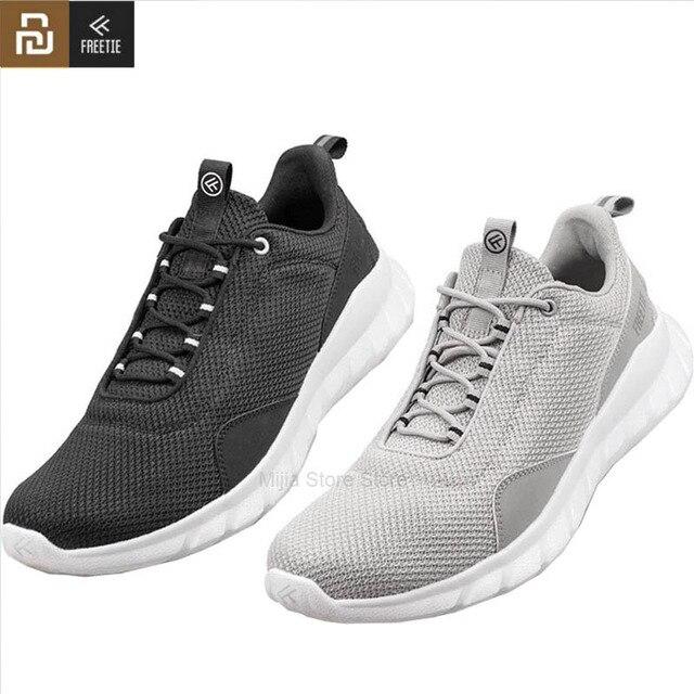 Youpin FREETIE נעלי ספורט קל משקל לאוורר אלסטי סריגה נעלי לנשימה מרענן עיר ריצת Sneaker עבור חיצוני