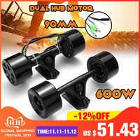Doppel Stick Roller Hub Motor Kit High Power DC Bürstenlosen Rad Motor Fernbedienung Für Die Elektrische Skateboard 600W