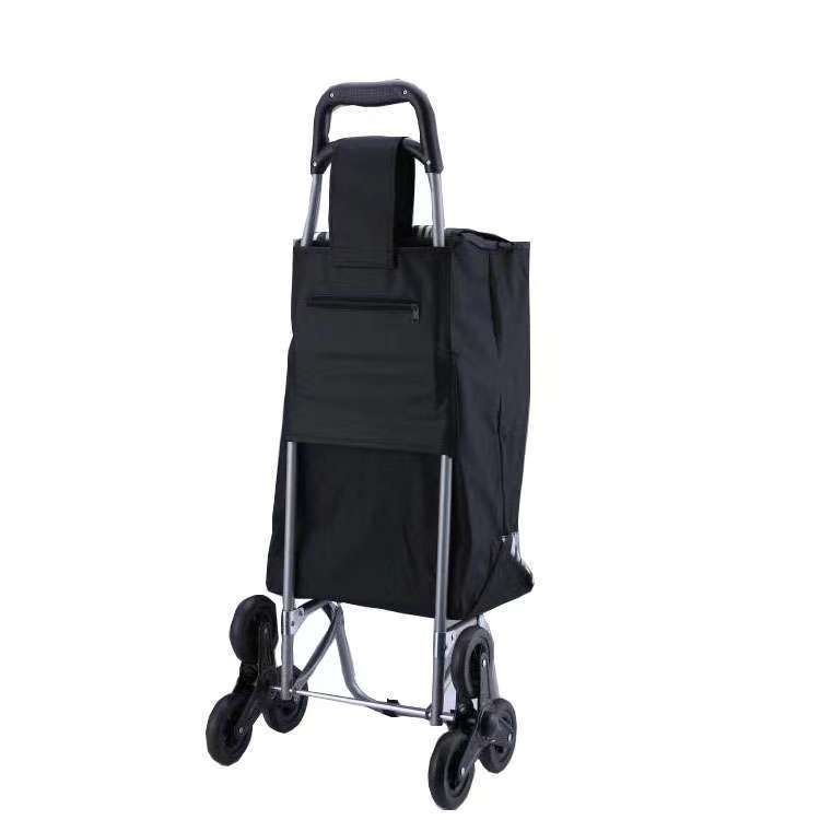 Nursing Supermarket Grocery Shopping Cart Pull Luggage Foldable Bar Household Portable Wheeled Shopping Bag Customizable Logo