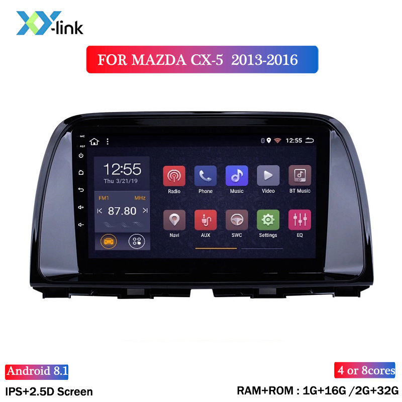 HOT SALE IPS 2.5D 9 inch <font><b>Android</b></font> 8.1 Car <font><b>Radio</b></font> DVD Player for <font><b>MAZDA</b></font> <font><b>CX</b></font>-<font><b>5</b></font> 2013-2016 GPS Glonass Navigation Audio Video SWC image