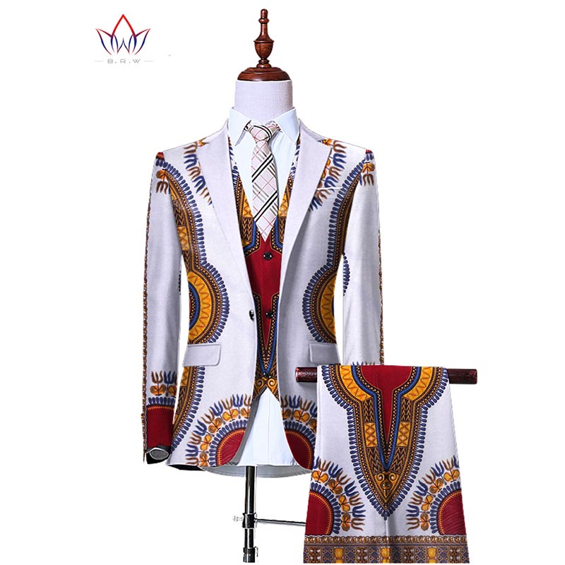 (Jacket+Vest+Pants)Blazers for Men 3 Piece Slim Fit Cowboy Wedding Men Suit Retro Gentleman Mens' African Clothing 6XL WYN230