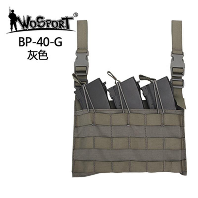 Wosport Pcpc Hot Multifunction Vest Accessory Bag Army Army External Tactical Fan Camouflage 1000d Adjustable Nylon Men New Vest
