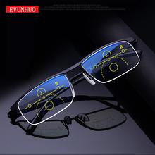 EVUNHUO Intelligent progressive reading glasses for men women near and dual-use Anti-Blue Light automatic adjustment Eyewear cheap Unisex White NONE CN(Origin) Anti-reflective 0-998 3 6cm Acrylic 5 7cm STAINLESS STEEL