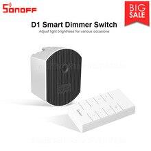Itead Sonoff D1 חכם דימר 433Mhz RF מבוקר & Wi Fi מתג להתאים אור בהירות עבודה באמצעות eWeLink APP גוגל בית Alexa