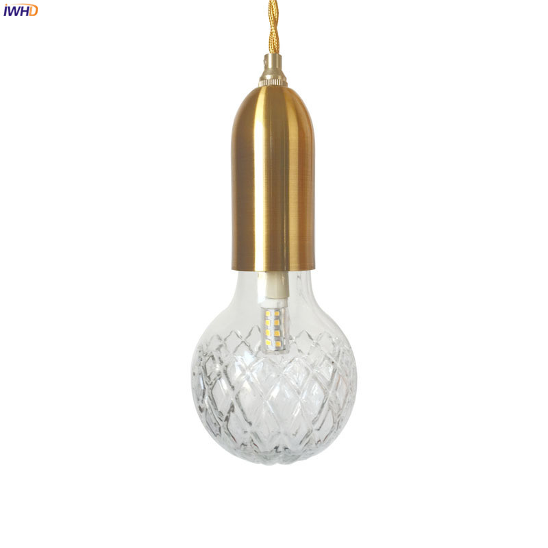 IWHD Ενιαία σκανδιναβική σύγχρονη LED κρεμαστό κόσμημα Φωτιστικά Κουζίνα αίθουσα καφέ κρεμαστό φανό LED κρεμαστή φωτιστικό κρεμαστό φωτιστικό