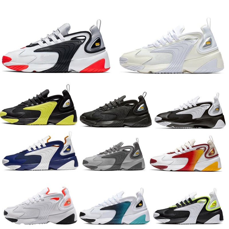 <font><b>M2K</b></font> 2K Tekno 2000 mens running shoes for womens Triple Black White Dynamic Yellow 90s style breathable sports sneakers shoes image