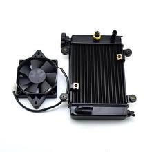 Ventilador de enfriamiento de motor de agua ATV + ventilador para 150cc 250cc PIT Quad Dirt Bike, vehículo para la arena, motocicleta de 4 ruedas Zongshen