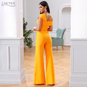 Image 5 - Adyce 2020 חדש קיץ תחבושת סטי נשים שמלת Vestido פסים חולצות & מכנסיים 2 שתי חתיכות סט הלילה החוצה סלבריטאים ערב מסיבת סטים