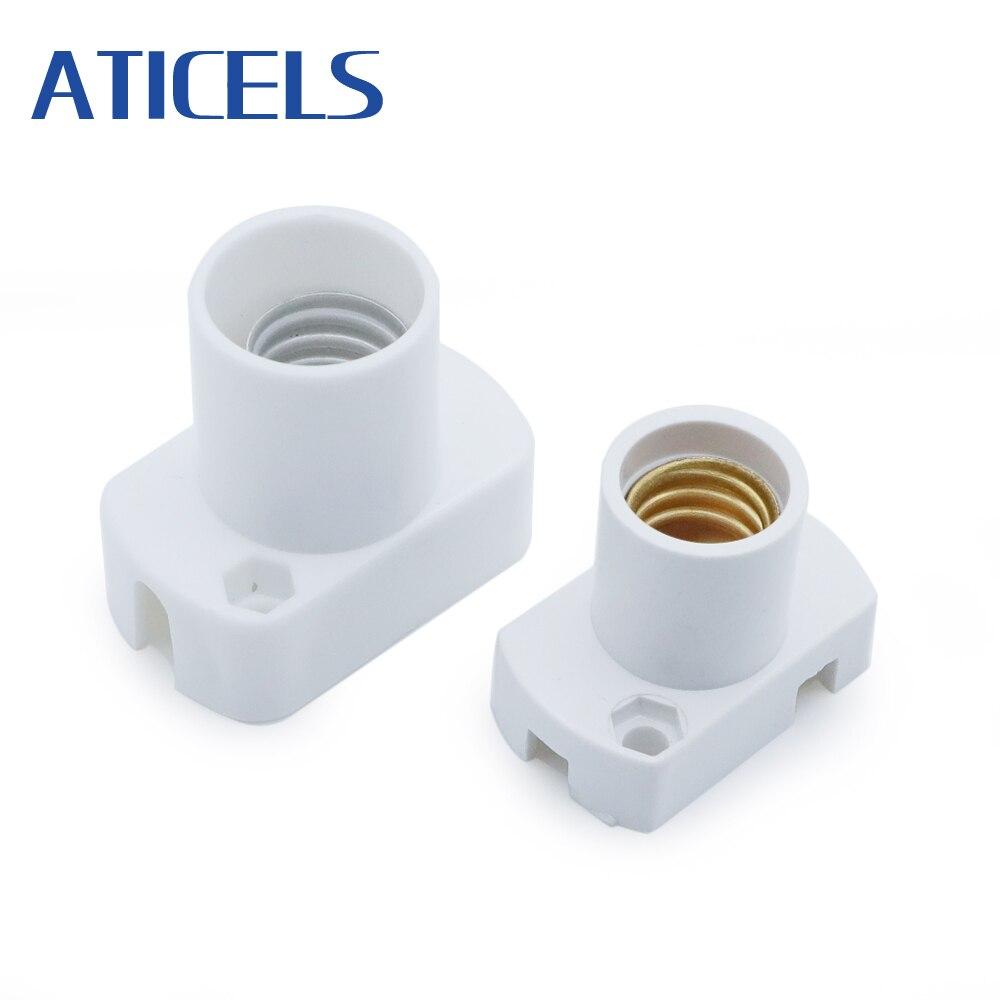 5PCS Mini Screw Lamp Base E14 / E12 Lamp Holder E14 Light Bulb Socket Holder Adapter