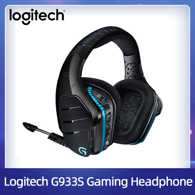 Logitech G933/G933s Wireless Gaming Headset 7.1 Surround Sound DTS Headphone Customizable RGB Compatible with PC Mobile Phone