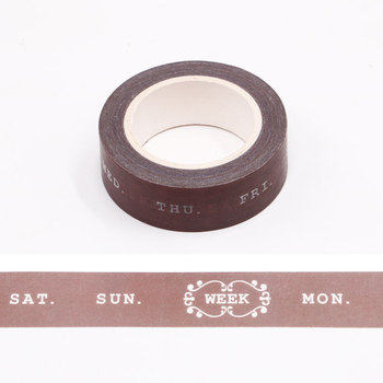 10m Weekly Plan Bullet Journal Washi Tape Adhesive Tape DIY Scrapbooking Sticker Label Japanese Masking Tape